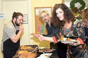 Caught in the act of enjoying a totally awesome spread. Thank you David Neinstein and BIA Member contributors.